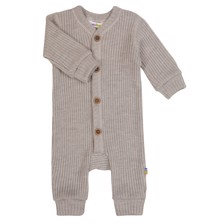 Joha rib jumpsuit merino uld  - light grey