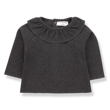 1+ in the family - Clementina Blouse Atrhracite