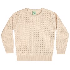FUB Cable Sweater - Creme