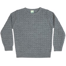FUB Cable Sweater - Grey