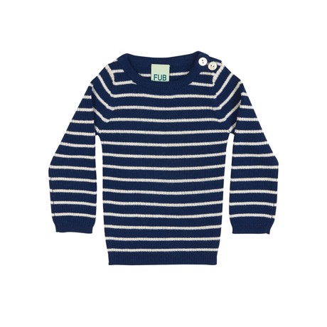 FUB Baby Striped Blouse - Dark Blue/Ecru