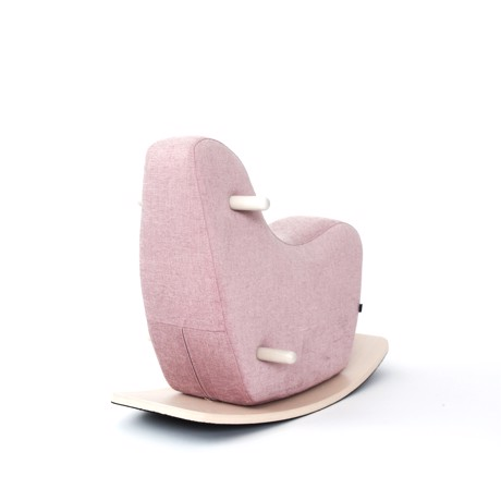 ooh noo - Rocking horse small - pale pink