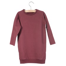 Little Hedonist Sweatdress Ruth Burgundy